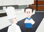 010料理長に挨拶する若い料理人