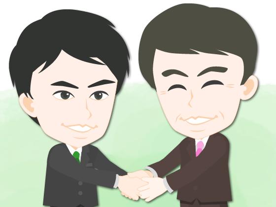 15060210握手するビジネスマン